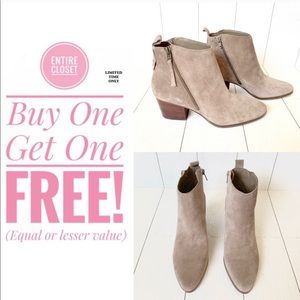 New Sole Society suede leather gray Booties